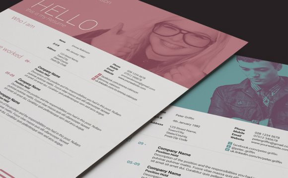 Love the two tone resume photo